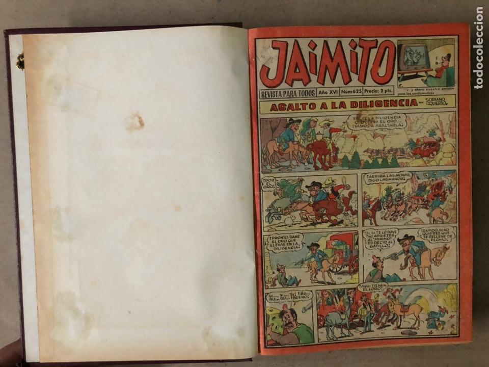 Tebeos: JAIMITO (EDITORIAL VALENCIANA). LOTE DE 47 TEBEOS ENCUADERNADOS EN 3 TOMOS. DE 1961 A 1969. - Foto 4 - 210969221