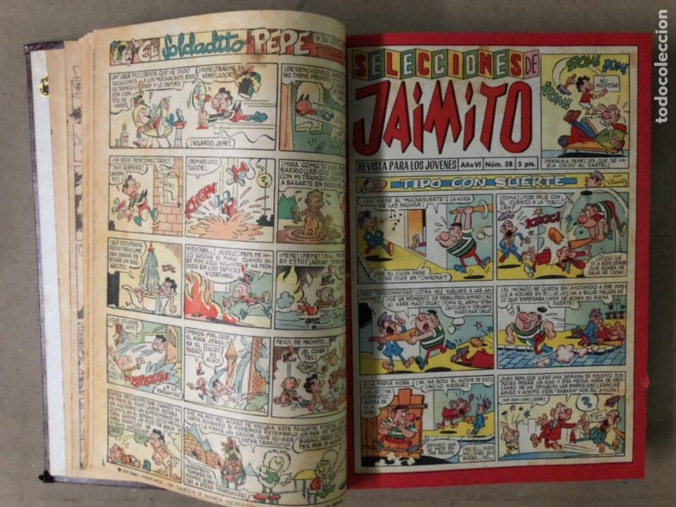 Tebeos: JAIMITO (EDITORIAL VALENCIANA). LOTE DE 47 TEBEOS ENCUADERNADOS EN 3 TOMOS. DE 1961 A 1969. - Foto 5 - 210969221