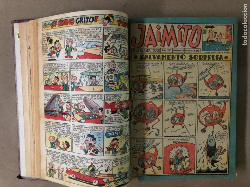 Tebeos: JAIMITO (EDITORIAL VALENCIANA). LOTE DE 47 TEBEOS ENCUADERNADOS EN 3 TOMOS. DE 1961 A 1969. - Foto 6 - 210969221