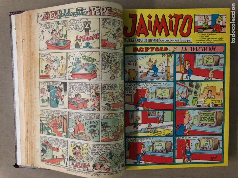 Tebeos: JAIMITO (EDITORIAL VALENCIANA). LOTE DE 47 TEBEOS ENCUADERNADOS EN 3 TOMOS. DE 1961 A 1969. - Foto 7 - 210969221