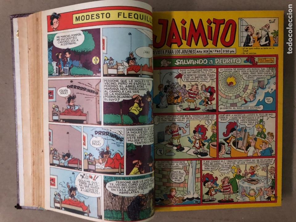 Tebeos: JAIMITO (EDITORIAL VALENCIANA). LOTE DE 47 TEBEOS ENCUADERNADOS EN 3 TOMOS. DE 1961 A 1969. - Foto 8 - 210969221