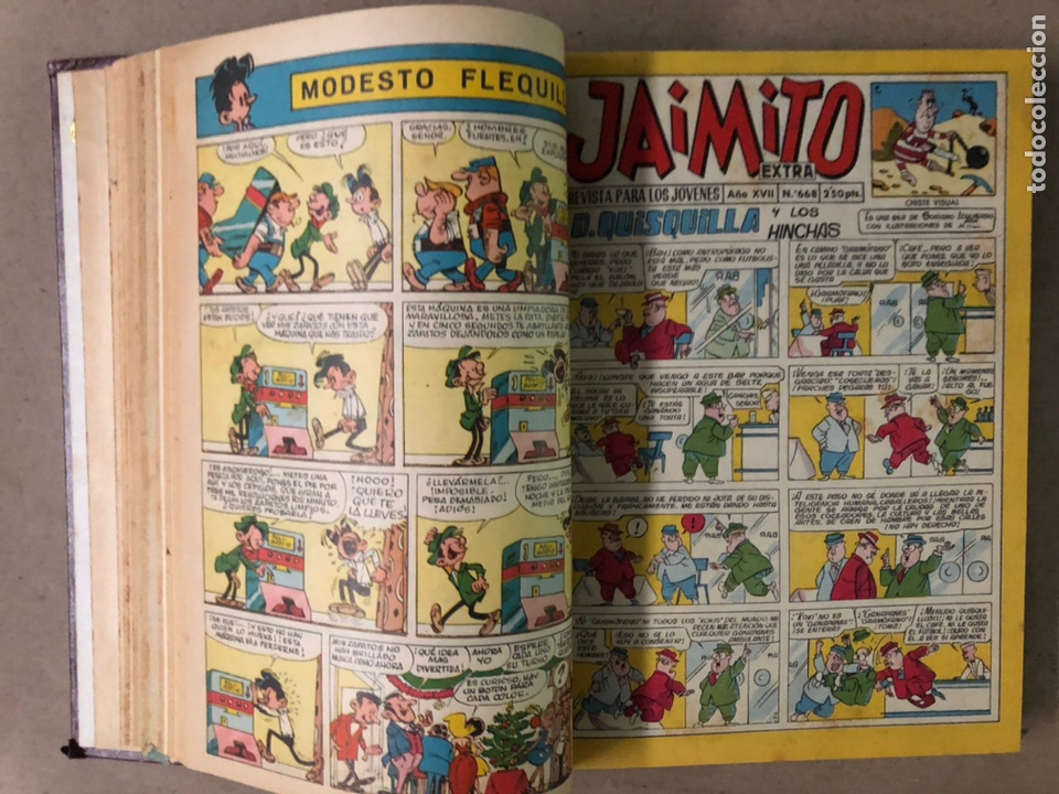 Tebeos: JAIMITO (EDITORIAL VALENCIANA). LOTE DE 47 TEBEOS ENCUADERNADOS EN 3 TOMOS. DE 1961 A 1969. - Foto 9 - 210969221