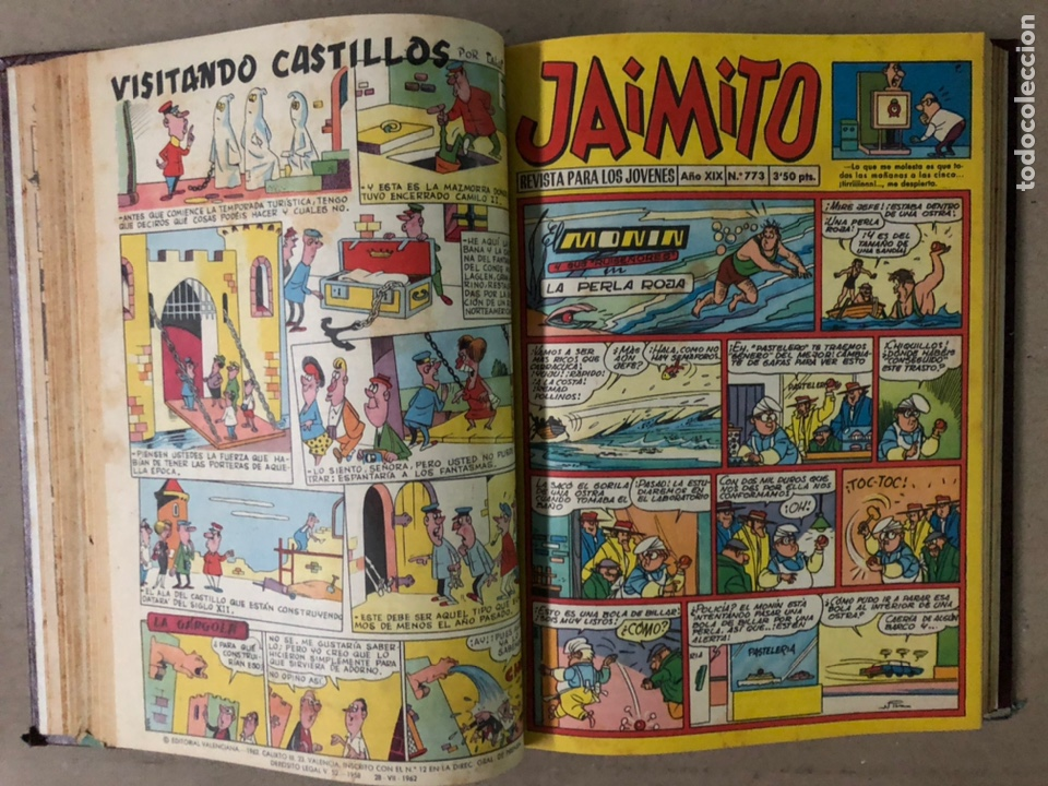 Tebeos: JAIMITO (EDITORIAL VALENCIANA). LOTE DE 47 TEBEOS ENCUADERNADOS EN 3 TOMOS. DE 1961 A 1969. - Foto 10 - 210969221