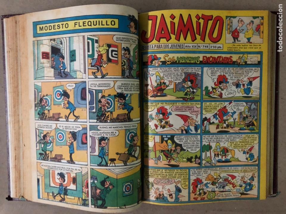 Tebeos: JAIMITO (EDITORIAL VALENCIANA). LOTE DE 47 TEBEOS ENCUADERNADOS EN 3 TOMOS. DE 1961 A 1969. - Foto 11 - 210969221