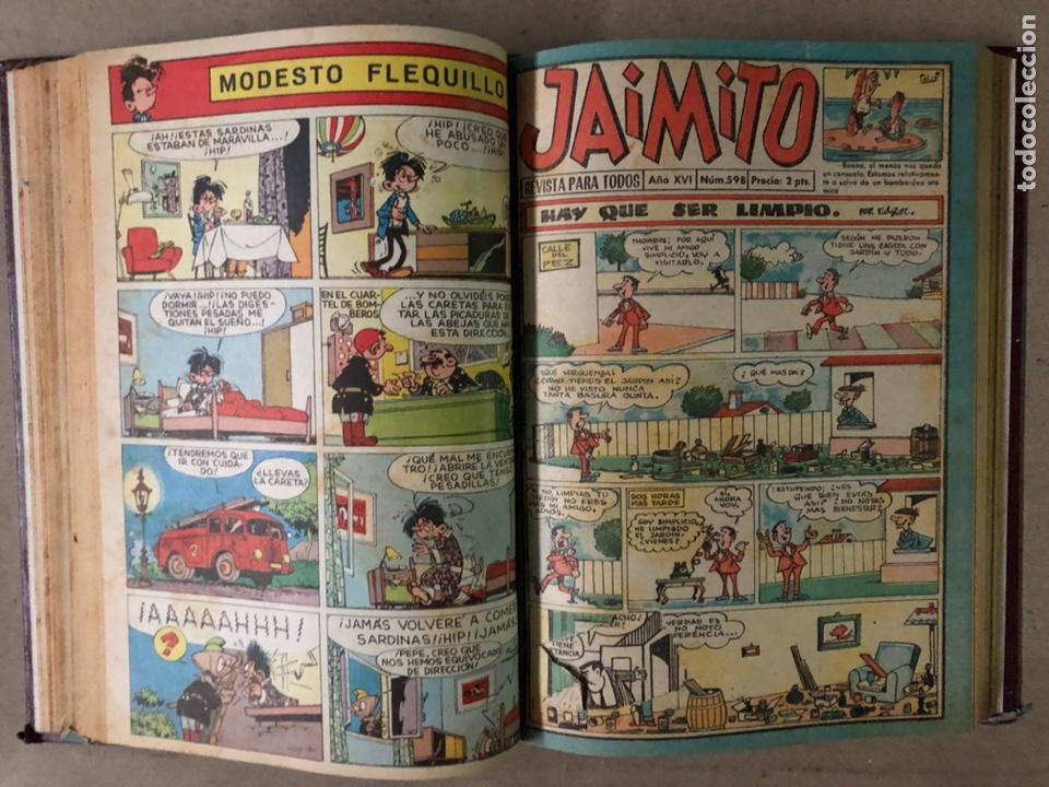 Tebeos: JAIMITO (EDITORIAL VALENCIANA). LOTE DE 47 TEBEOS ENCUADERNADOS EN 3 TOMOS. DE 1961 A 1969. - Foto 12 - 210969221