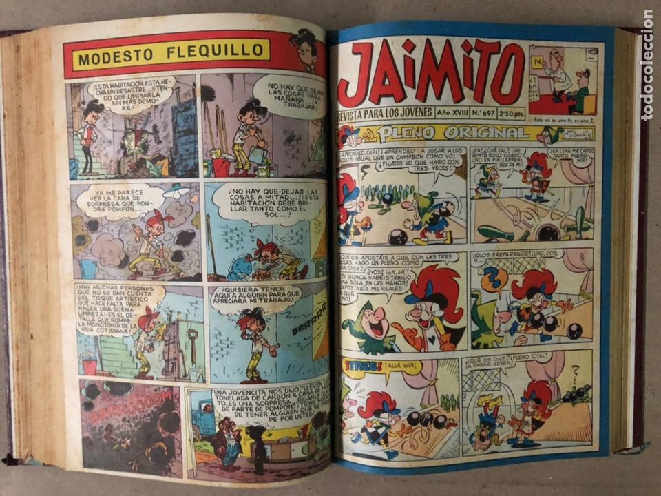 Tebeos: JAIMITO (EDITORIAL VALENCIANA). LOTE DE 47 TEBEOS ENCUADERNADOS EN 3 TOMOS. DE 1961 A 1969. - Foto 14 - 210969221