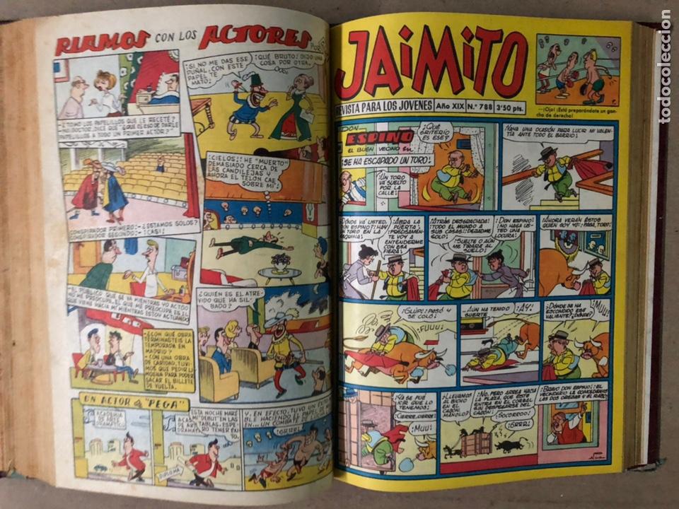 Tebeos: JAIMITO (EDITORIAL VALENCIANA). LOTE DE 47 TEBEOS ENCUADERNADOS EN 3 TOMOS. DE 1961 A 1969. - Foto 15 - 210969221