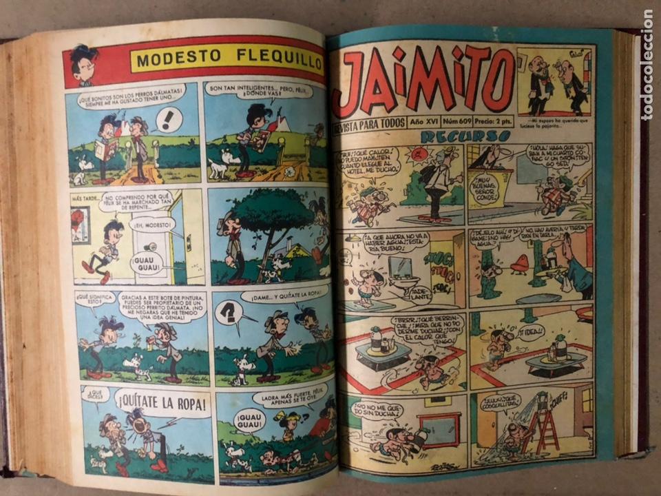 Tebeos: JAIMITO (EDITORIAL VALENCIANA). LOTE DE 47 TEBEOS ENCUADERNADOS EN 3 TOMOS. DE 1961 A 1969. - Foto 16 - 210969221