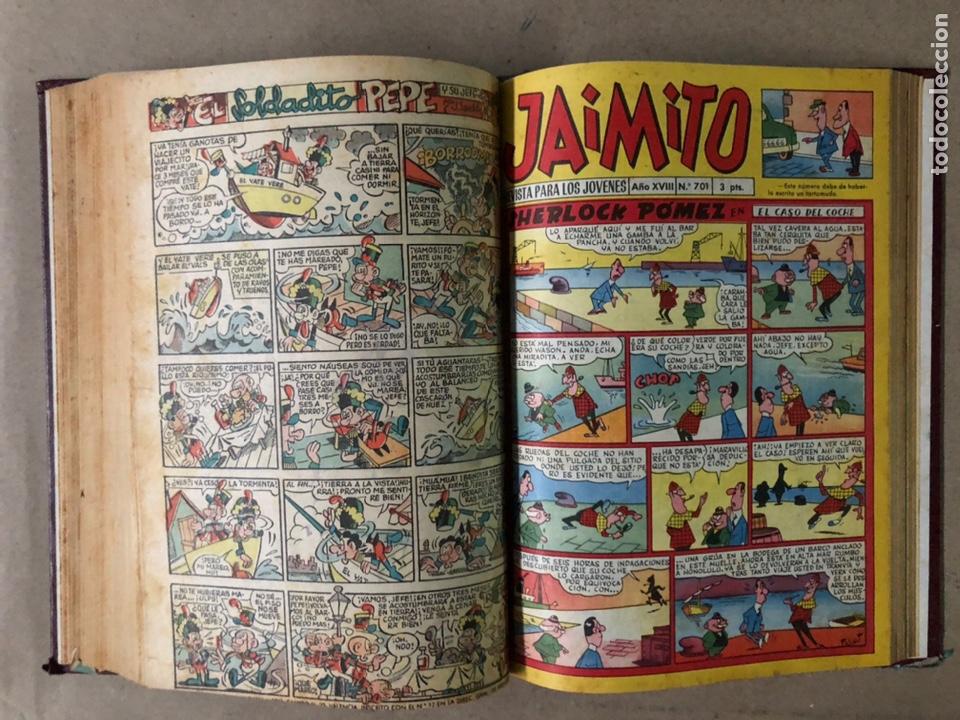 Tebeos: JAIMITO (EDITORIAL VALENCIANA). LOTE DE 47 TEBEOS ENCUADERNADOS EN 3 TOMOS. DE 1961 A 1969. - Foto 17 - 210969221