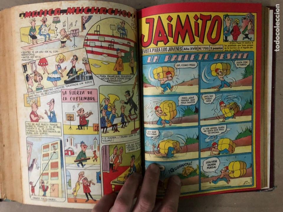 Tebeos: JAIMITO (EDITORIAL VALENCIANA). LOTE DE 47 TEBEOS ENCUADERNADOS EN 3 TOMOS. DE 1961 A 1969. - Foto 18 - 210969221
