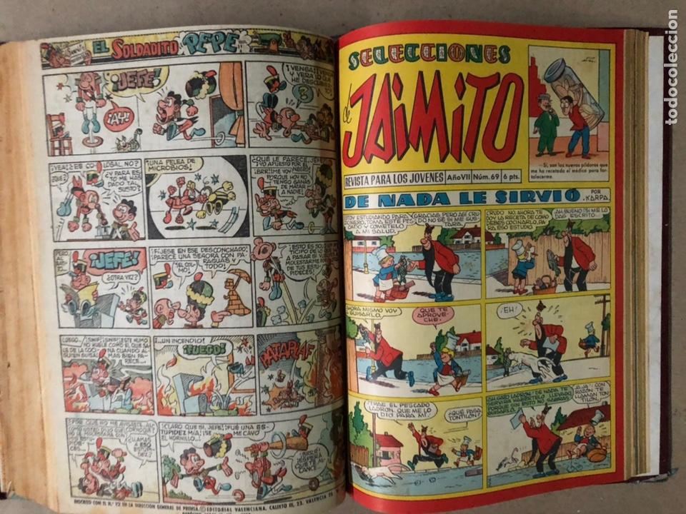 Tebeos: JAIMITO (EDITORIAL VALENCIANA). LOTE DE 47 TEBEOS ENCUADERNADOS EN 3 TOMOS. DE 1961 A 1969. - Foto 20 - 210969221
