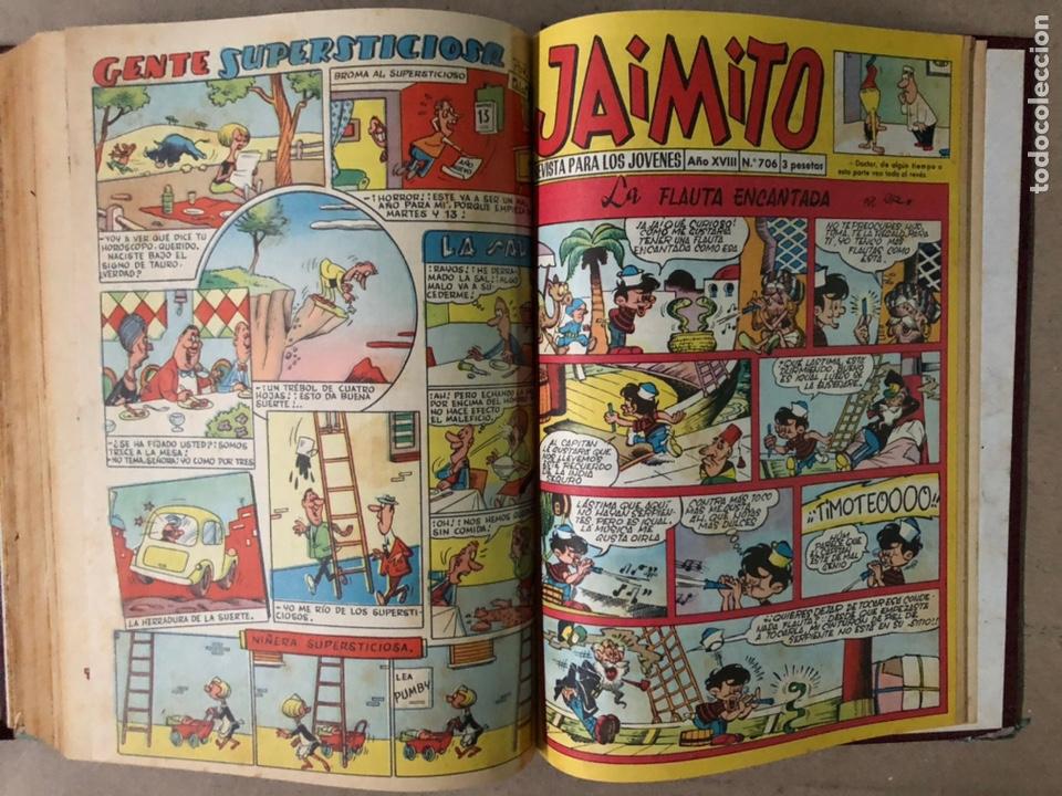 Tebeos: JAIMITO (EDITORIAL VALENCIANA). LOTE DE 47 TEBEOS ENCUADERNADOS EN 3 TOMOS. DE 1961 A 1969. - Foto 22 - 210969221