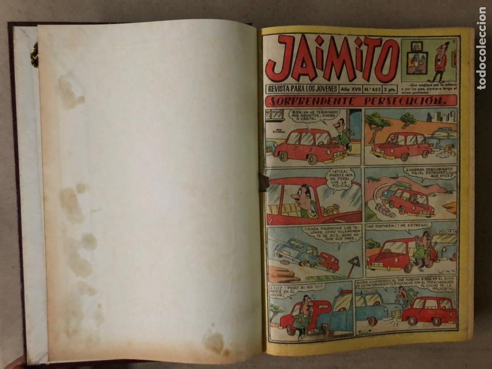 Tebeos: JAIMITO (EDITORIAL VALENCIANA). LOTE DE 47 TEBEOS ENCUADERNADOS EN 3 TOMOS. DE 1961 A 1969. - Foto 26 - 210969221