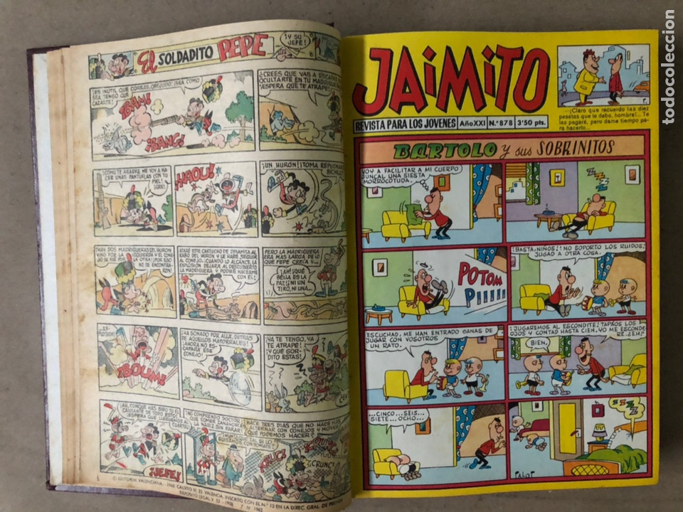Tebeos: JAIMITO (EDITORIAL VALENCIANA). LOTE DE 47 TEBEOS ENCUADERNADOS EN 3 TOMOS. DE 1961 A 1969. - Foto 27 - 210969221