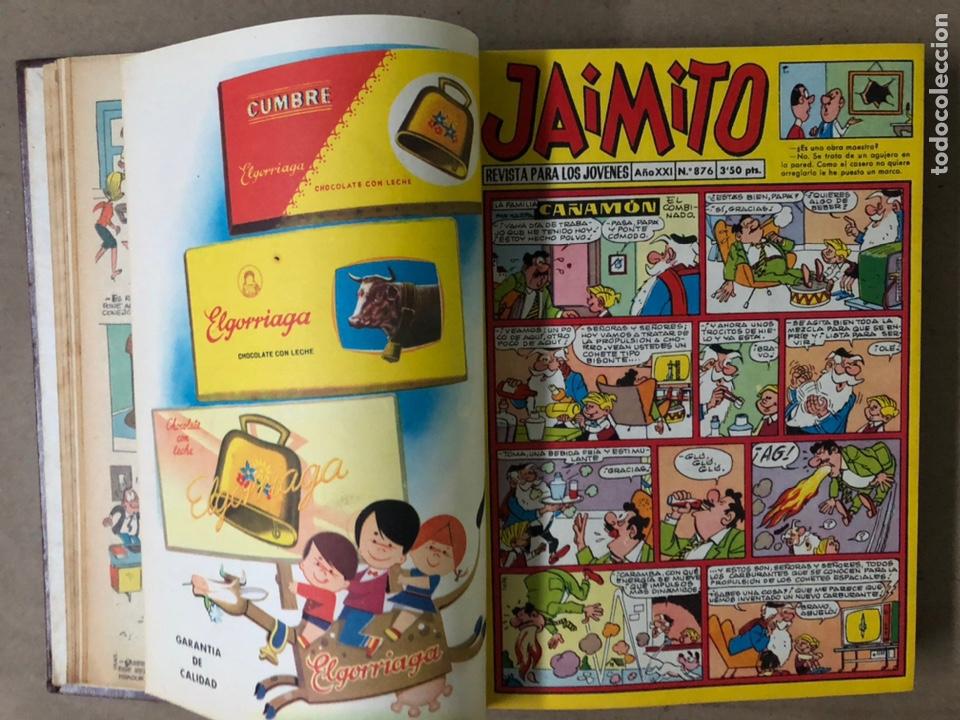 Tebeos: JAIMITO (EDITORIAL VALENCIANA). LOTE DE 47 TEBEOS ENCUADERNADOS EN 3 TOMOS. DE 1961 A 1969. - Foto 28 - 210969221