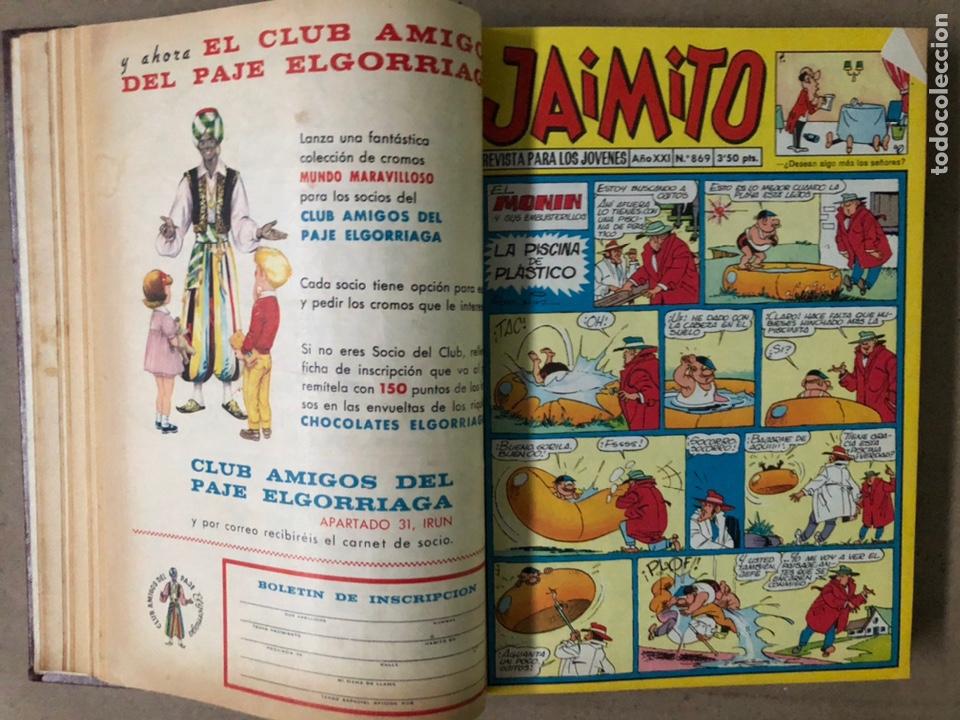 Tebeos: JAIMITO (EDITORIAL VALENCIANA). LOTE DE 47 TEBEOS ENCUADERNADOS EN 3 TOMOS. DE 1961 A 1969. - Foto 30 - 210969221