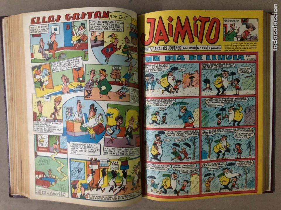 Tebeos: JAIMITO (EDITORIAL VALENCIANA). LOTE DE 47 TEBEOS ENCUADERNADOS EN 3 TOMOS. DE 1961 A 1969. - Foto 34 - 210969221