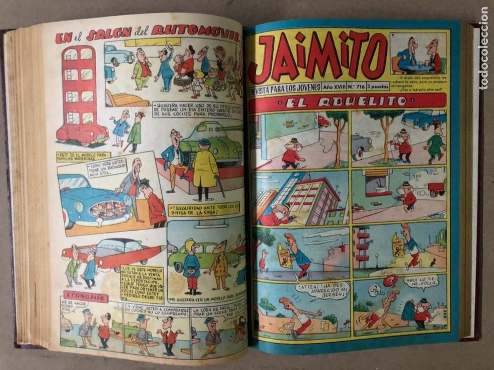 Tebeos: JAIMITO (EDITORIAL VALENCIANA). LOTE DE 47 TEBEOS ENCUADERNADOS EN 3 TOMOS. DE 1961 A 1969. - Foto 35 - 210969221
