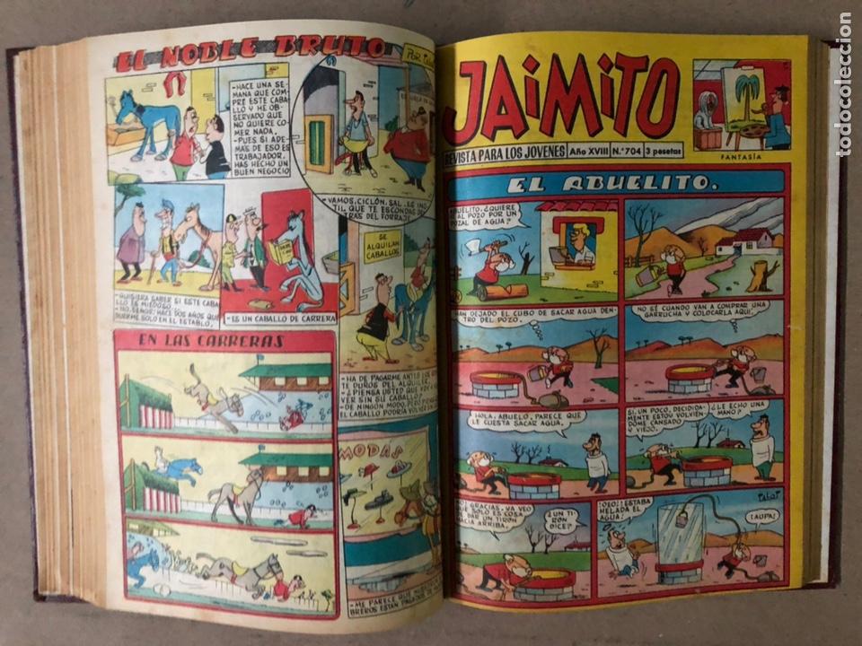 Tebeos: JAIMITO (EDITORIAL VALENCIANA). LOTE DE 47 TEBEOS ENCUADERNADOS EN 3 TOMOS. DE 1961 A 1969. - Foto 36 - 210969221