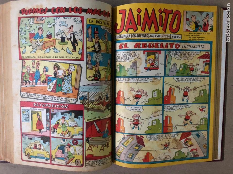 Tebeos: JAIMITO (EDITORIAL VALENCIANA). LOTE DE 47 TEBEOS ENCUADERNADOS EN 3 TOMOS. DE 1961 A 1969. - Foto 37 - 210969221