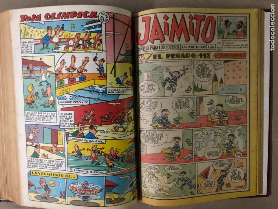 Tebeos: JAIMITO (EDITORIAL VALENCIANA). LOTE DE 47 TEBEOS ENCUADERNADOS EN 3 TOMOS. DE 1961 A 1969. - Foto 39 - 210969221