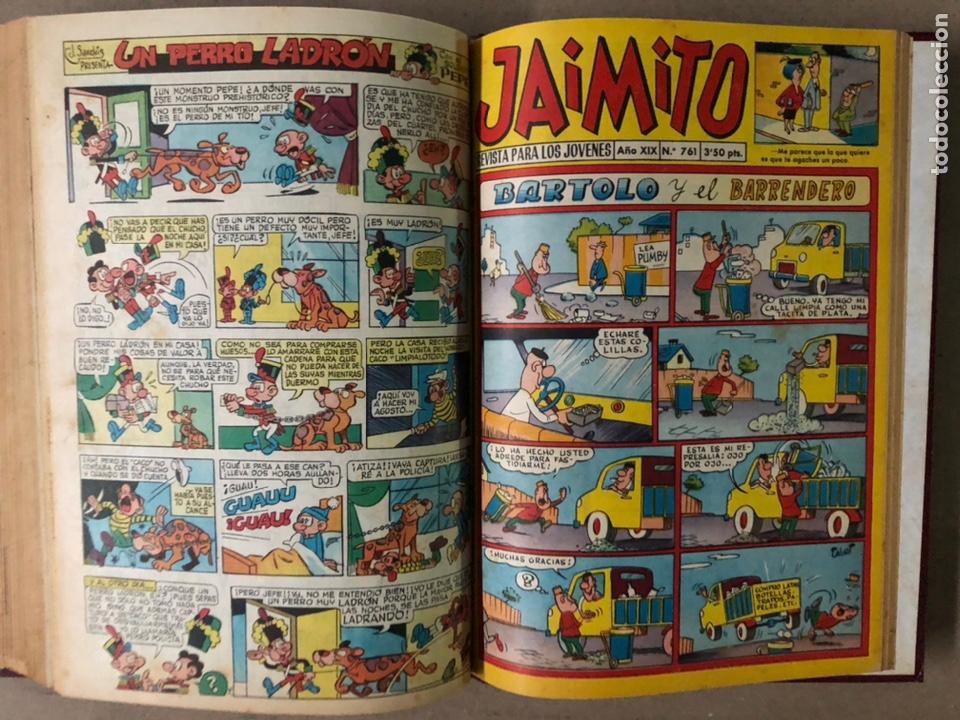 Tebeos: JAIMITO (EDITORIAL VALENCIANA). LOTE DE 47 TEBEOS ENCUADERNADOS EN 3 TOMOS. DE 1961 A 1969. - Foto 41 - 210969221