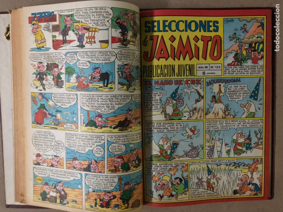 Tebeos: JAIMITO (EDITORIAL VALENCIANA). LOTE DE 47 TEBEOS ENCUADERNADOS EN 3 TOMOS. DE 1961 A 1969. - Foto 50 - 210969221