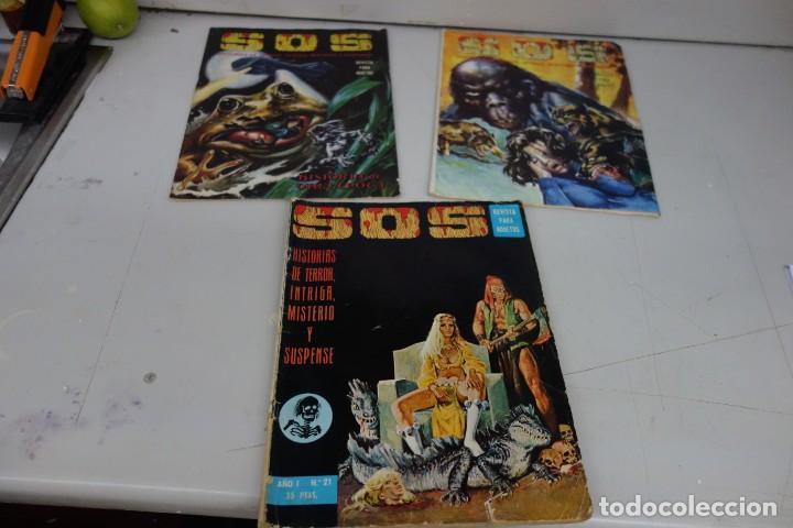 COLECCIÓN Nº 19 DE 3 TEBEOS Y CÓMICS SOS (Tebeos y Comics - Valenciana - S.O.S)
