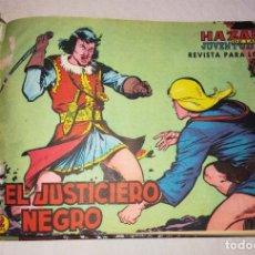 Tebeos: EL JUSTICIERO NEGRO, ORIGINAL COMPLETA. Lote 211962675