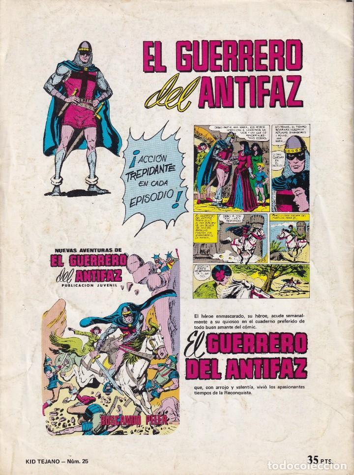 Tebeos: KID TEJANO: NUMERO 25 LA JAULA DE ORO , EDITORIAL BRUGUERA - Foto 2 - 211984415