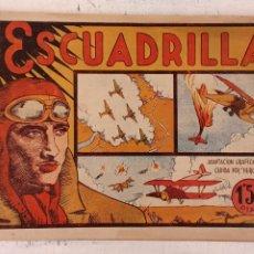 Tebeos: LA ESCUADRILLA - PELICULAS FAMOSAS - 1941 EDI. VALENCIANA - ORIGINAL MUY BIEN CONSERVADO, CON CROMOS. Lote 212270296