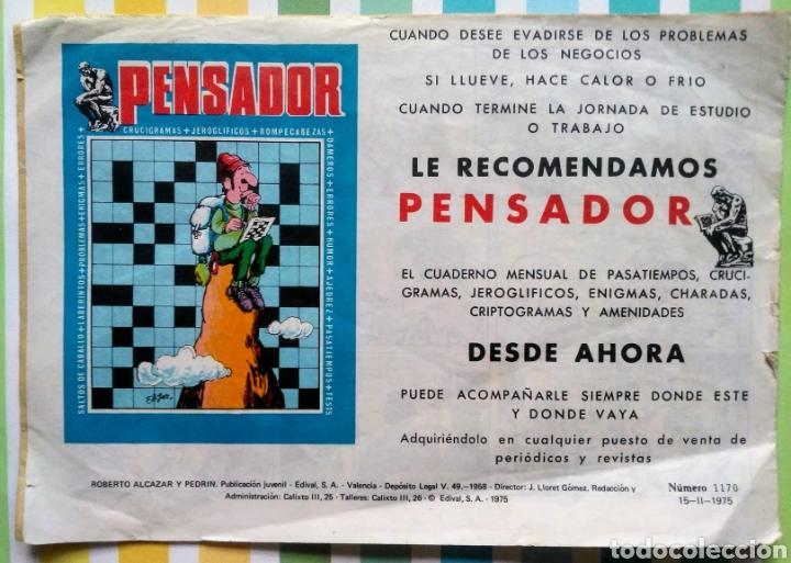 Tebeos: lote Alcazar y Pedrin nº 163, 273, 433, 726, 1203, 1207 y 1170 originales+ 246 2ª epoca - Foto 12 - 212309857