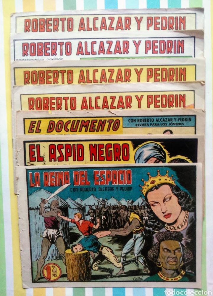 LOTE ALCAZAR Y PEDRIN Nº 163, 273, 433, 726, 1203, 1207 Y 1170 ORIGINALES+ 246 2ª EPOCA (Tebeos y Comics - Valenciana - Roberto Alcázar y Pedrín)