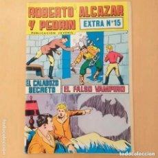 Tebeos: ROBERTO ALCAZAR Y PEDRIN. EL CALABOZO SECRETO + EL FALSO VAMPIRO. VALENCIANA EXTRA NUM 15. Lote 212741406