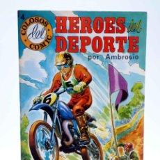 Tebeos: COLOSOS DEL COMIC. HÉROES DEL DEPORTE 4 (AMBROSIO - AMBRÓS) VALENCIANA, 1984. OFRT. Lote 253516190