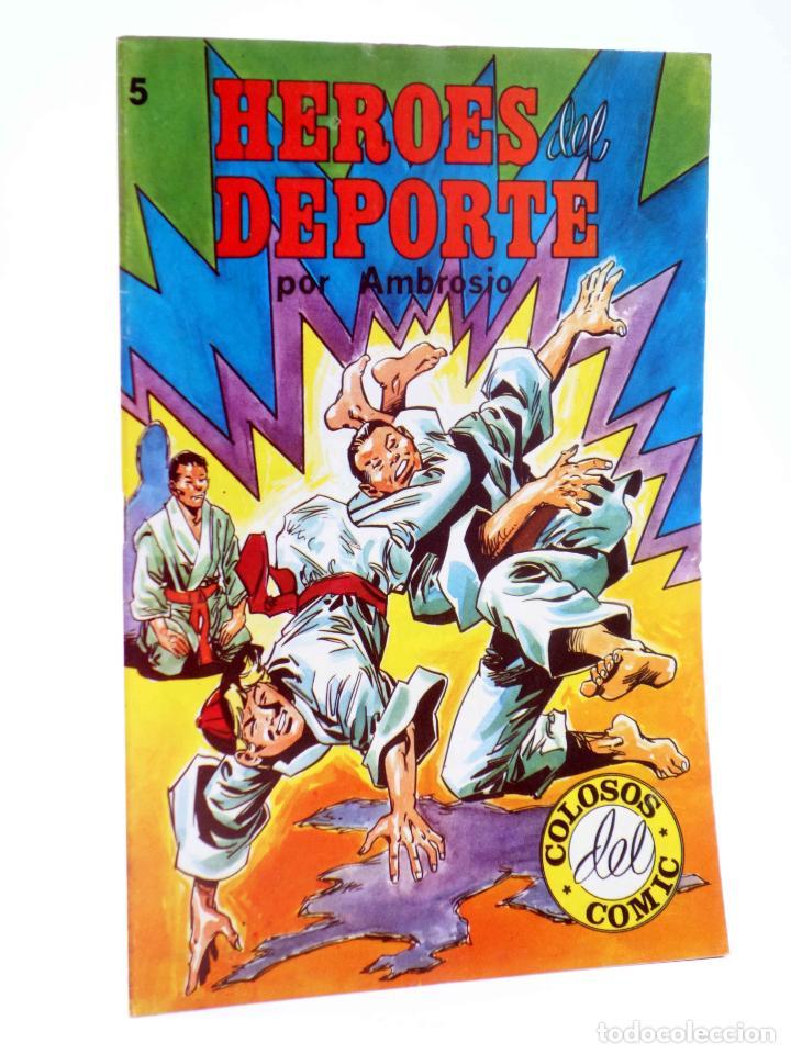 COLOSOS DEL COMIC. HÉROES DEL DEPORTE 5 (AMBROSIO - AMBRÓS) VALENCIANA, 1984. OFRT (Tebeos y Comics - Valenciana - Colosos del Comic)