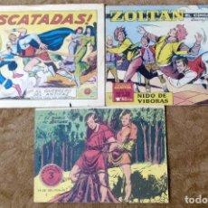 Tebeos: GUERRERO DEL ANTIFAZ Nº 541 (1963) + ZOLTAN EL CINGARO Nº 12 (1963) + FLECHA Y ARTURO Nº 7 (1966). Lote 195609052