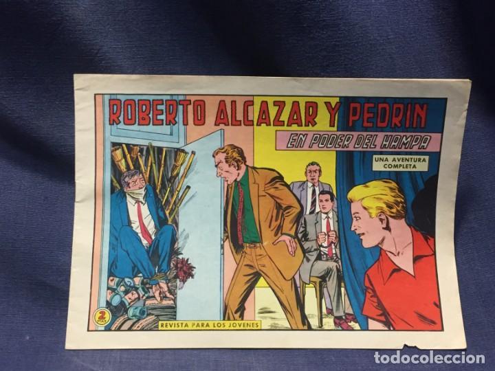 ROBERTO ALCAZAR Y PEDRIN Nº 747 ED. VALSA VALENCIA 1965 EL PODER DEL HAMPA 25X17.5CMS (Tebeos y Comics - Valenciana - Roberto Alcázar y Pedrín)