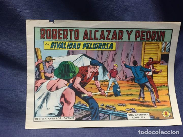 ROBERTO ALCAZAR Y PEDRIN Nº 746 ED. VALSA VALENCIA 1965 RIVALIDAD PELIGROSA 25X17.5CMS (Tebeos y Comics - Valenciana - Roberto Alcázar y Pedrín)