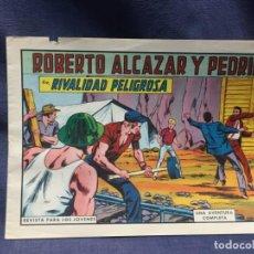Tebeos: ROBERTO ALCAZAR Y PEDRIN Nº 746 ED. VALSA VALENCIA 1965 RIVALIDAD PELIGROSA 25X17.5CMS. Lote 213615070