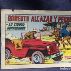 Tebeos: ROBERTO ALCAZAR Y PEDRIN Nº 742 ED. VALSA VALENCIA 1965 LA CIUDAD ABANDONADA 25X17.5CMS. Lote 213615177