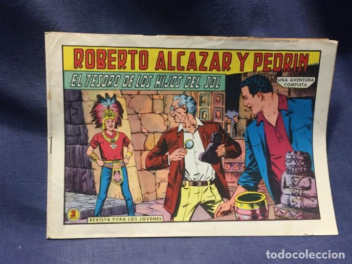 ROBERTO ALCAZAR Y PEDRIN Nº 722 ED. VALSA VALENCIA 1965 EL TESORO DE LOS HIJOS DEL SOL 25X17.5CMS (Tebeos y Comics - Valenciana - Roberto Alcázar y Pedrín)