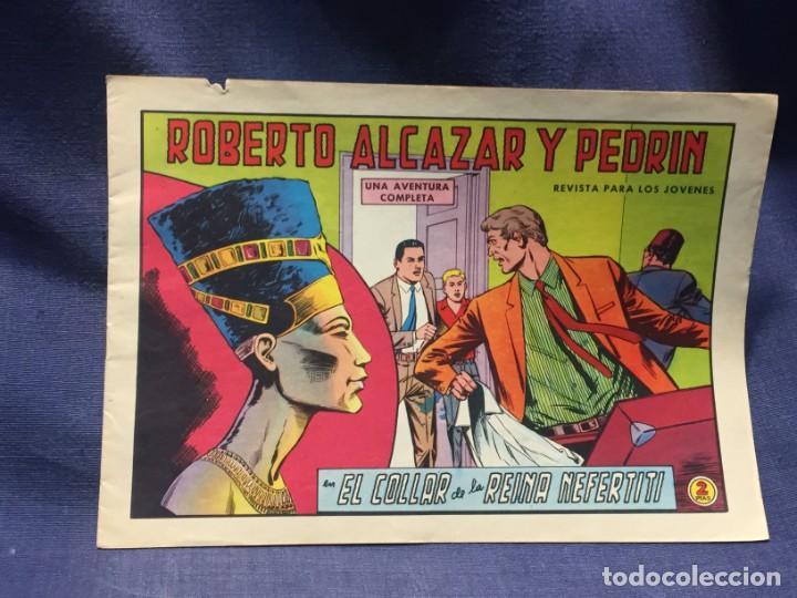 ROBERTO ALCAZAR Y PEDRIN Nº 718 ED. VALSA VALENCIA 1965 EL COLLAR DE LA REINA NEFERTITI 25X17.5CMS (Tebeos y Comics - Valenciana - Roberto Alcázar y Pedrín)