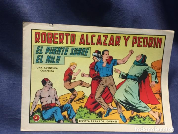 ROBERTO ALCAZAR Y PEDRIN Nº 696 ED. VALSA VALENCIA 1965 EL PUENTE SOBRE EL NILO 25X17.5CMS (Tebeos y Comics - Valenciana - Roberto Alcázar y Pedrín)
