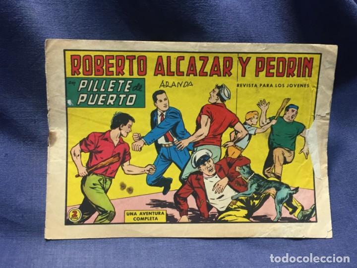 ROBERTO ALCAZAR Y PEDRIN Nº 686 ED. VALSA VALENCIA 1965 PILLETE DE PUERTO 25X17.5CMS (Tebeos y Comics - Valenciana - Roberto Alcázar y Pedrín)