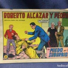 Tebeos: ROBERTO ALCAZAR Y PEDRIN Nº 668 ED. VALSA VALENCIA 1965 MIEDO EN LOS DUBURBIOS 25X17.5CMS. Lote 213616086