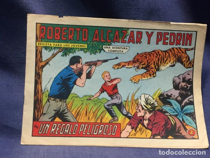 ROBERTO ALCAZAR Y PEDRIN Nº 665 ED. VALSA VALENCIA 1965 UN REGALO PELIGROSO 25X17.5CMS (Tebeos y Comics - Valenciana - Roberto Alcázar y Pedrín)