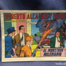 Tebeos: ROBERTO ALCAZAR Y PEDRIN Nº 654 ED. VALSA VALENCIA 1965 EL MONSTRUO MILENARIO 25X17.5CMS. Lote 213616351