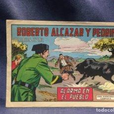 Tebeos: ROBERTO ALCAZAR Y PEDRIN Nº905 ED. VALSA VALENCIA 1970 ALARMA EN EL PUEBLO 25X17.5C. Lote 213616945