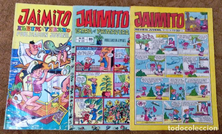 JAIMITO (VALENCIANA) EXTRA VERANO (1968), EXTRA PRIMAVERA (1975) Y Nº 1502 (1978) 3 TEBEOS. (Tebeos y Comics - Valenciana - Jaimito)